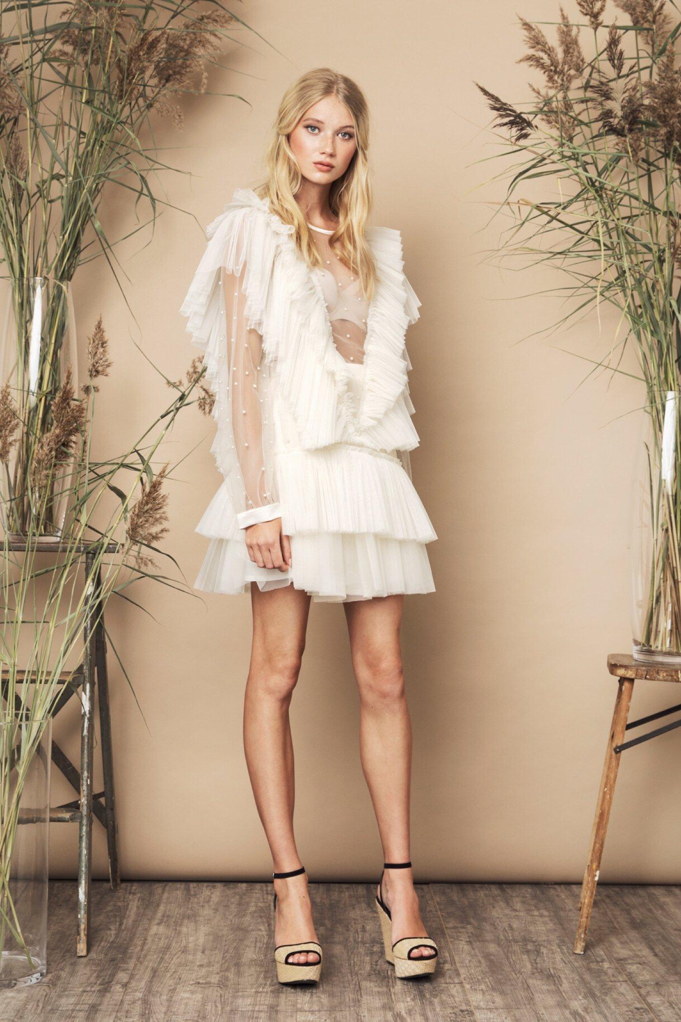 Jolie Skirt Cream & Black  and  Natasha Top Ivory