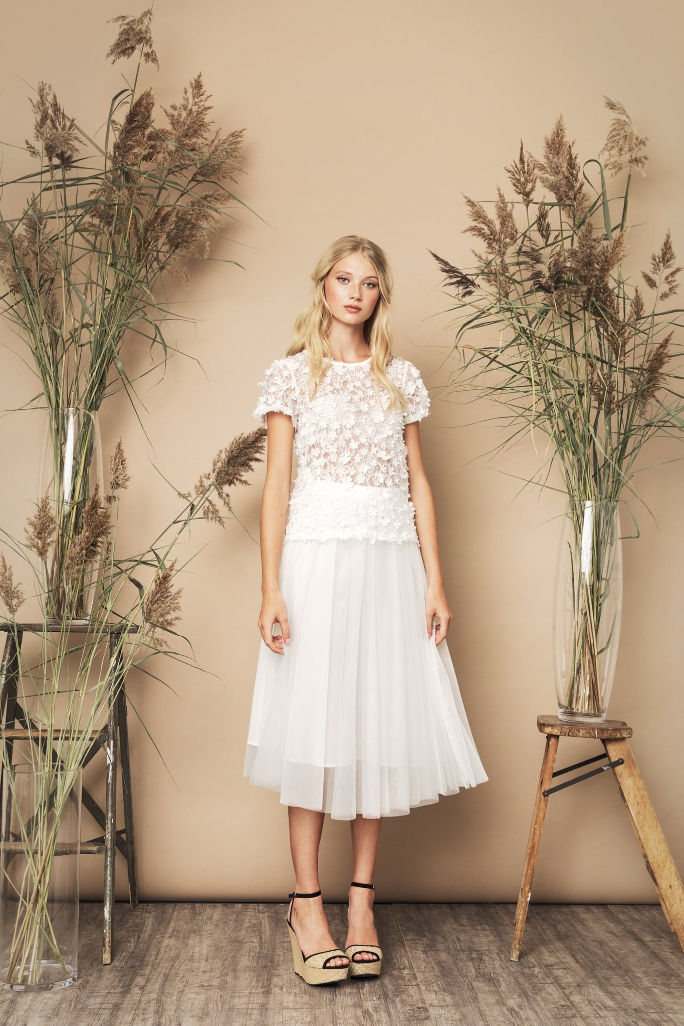 Flawless Skirt Ivory  och  Biscotti Top Ivory