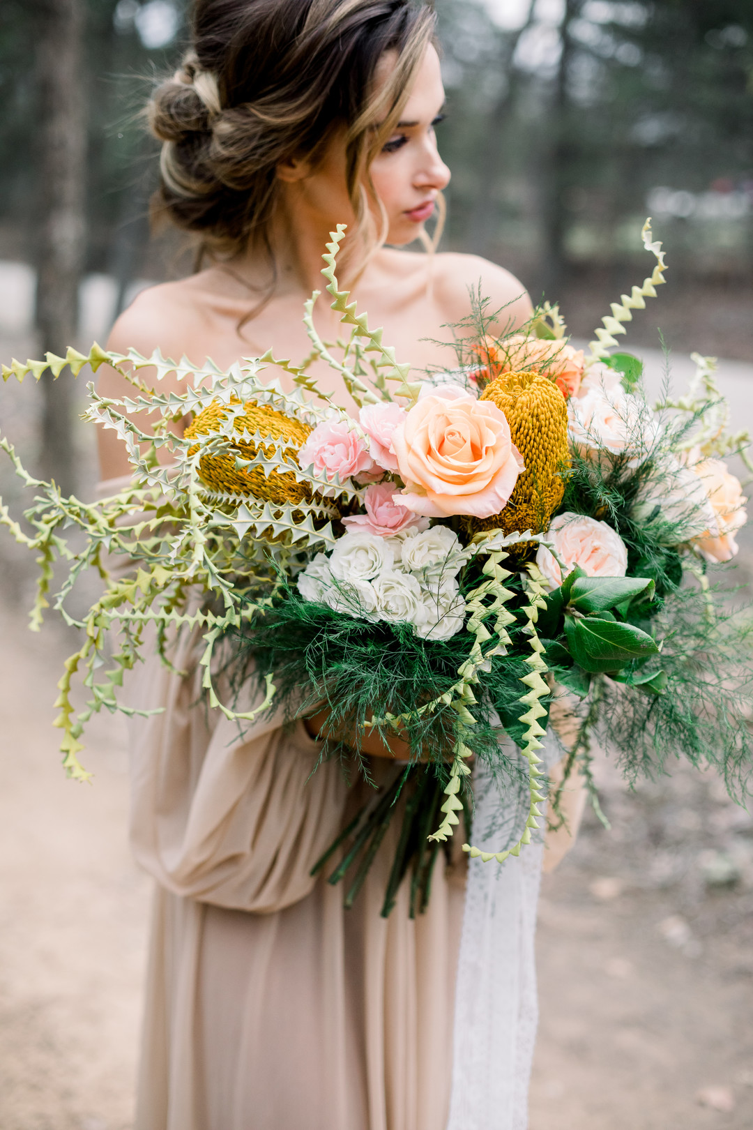 bröllop+elopement+boho+bukett