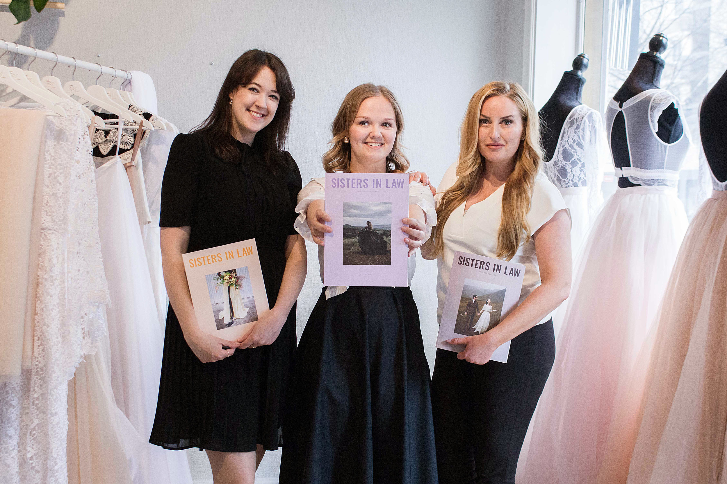 Zanna Metzer (Founder of Sisters in Law), Kristina Grahn (Designer at Sisters in Law), Evelina Boström (Eventail Invest AB / Stylelevel.com)