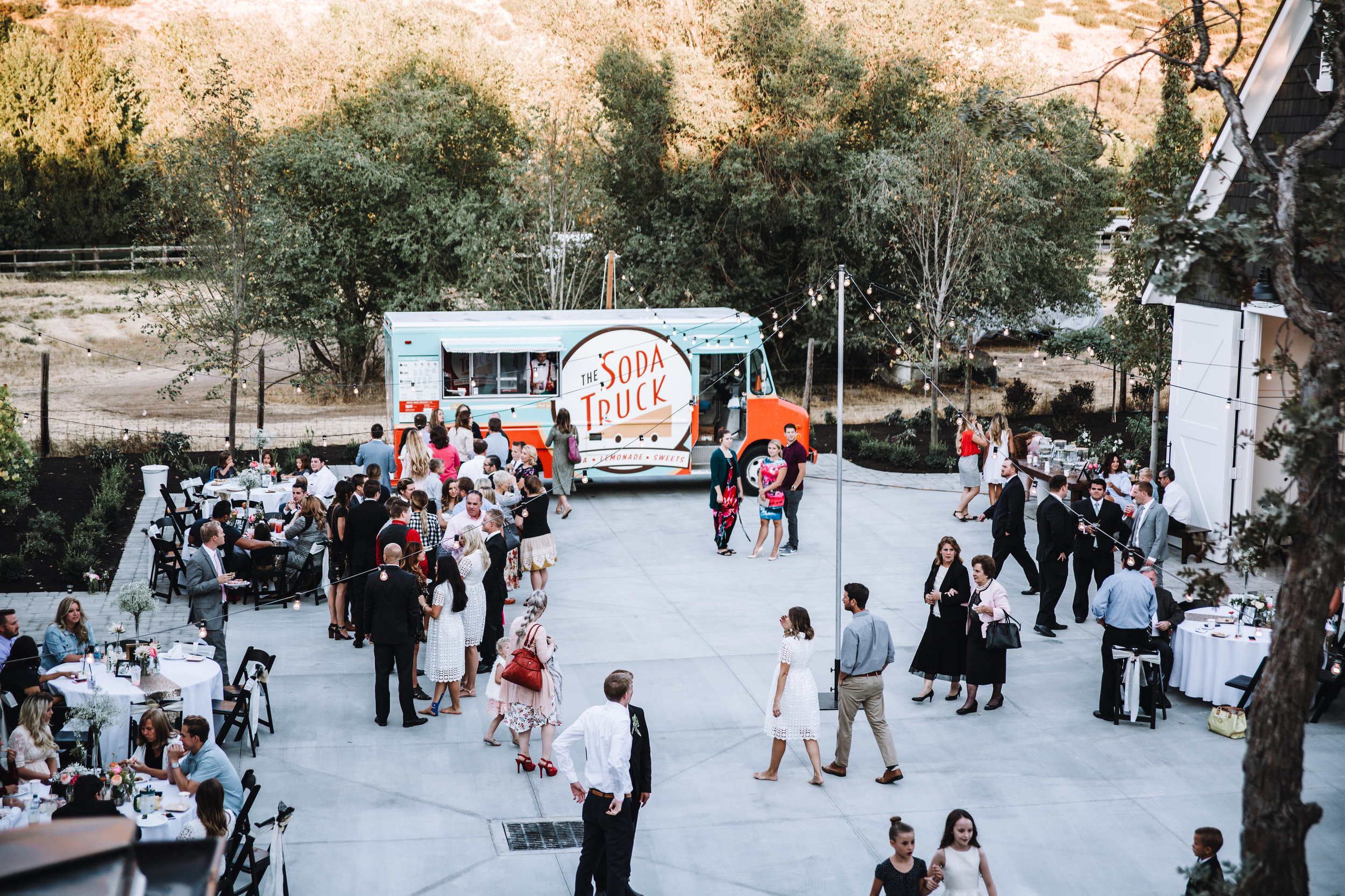 Soda truck wedding
