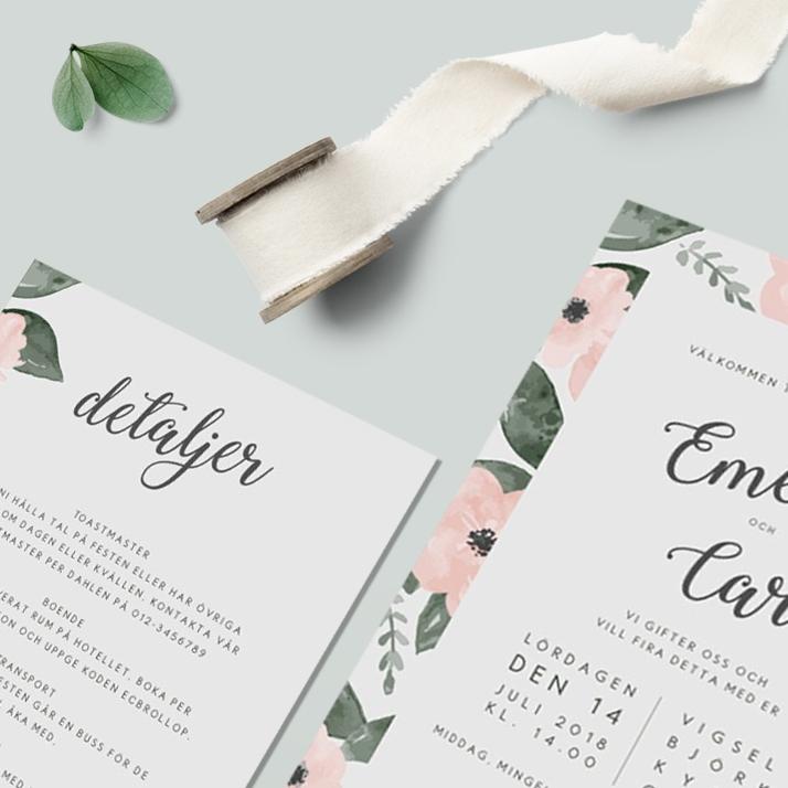Tryckstudion - Trycksaker till bröllopet