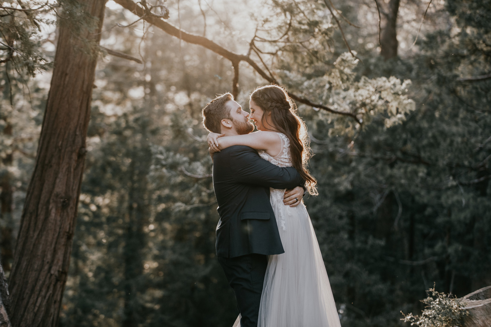 May wedding in the woods