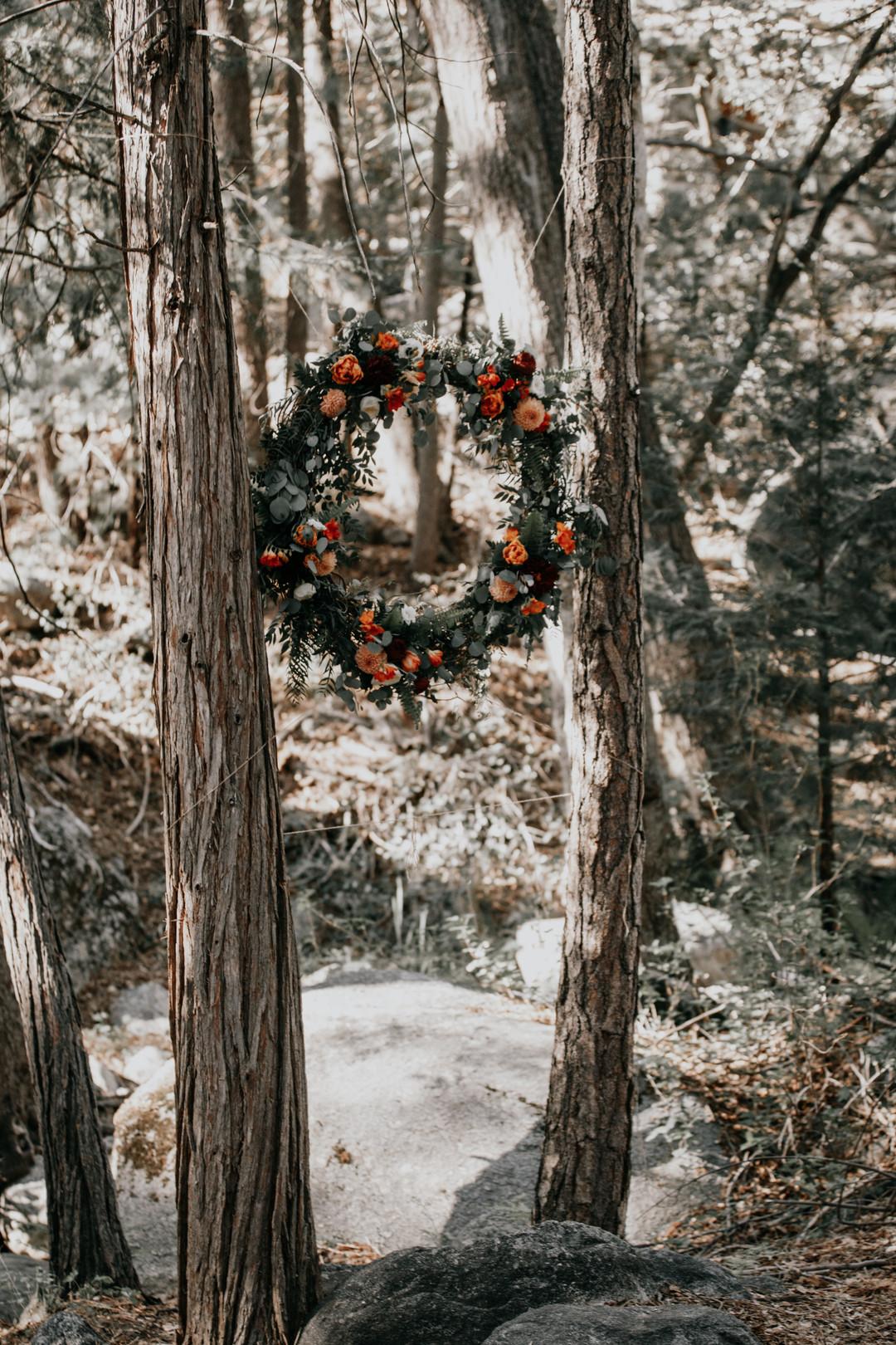 Wedding in the woods wedding arch