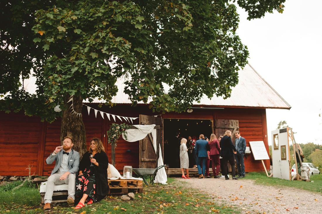 Lantlig lokal bröllop