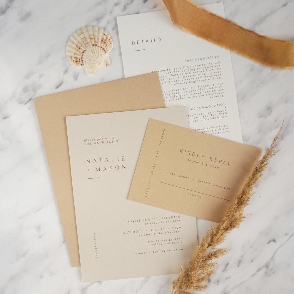 by Stina Design - Designstudio specialiserad på unika, romantiska trycksaker för det moderna men traditionella paret.