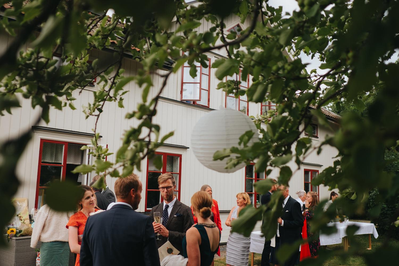 Lantligt bröllop + mingel + utomhusbröllop
