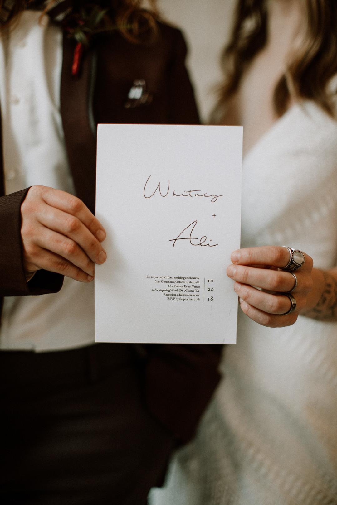 Trycksaker bröllop