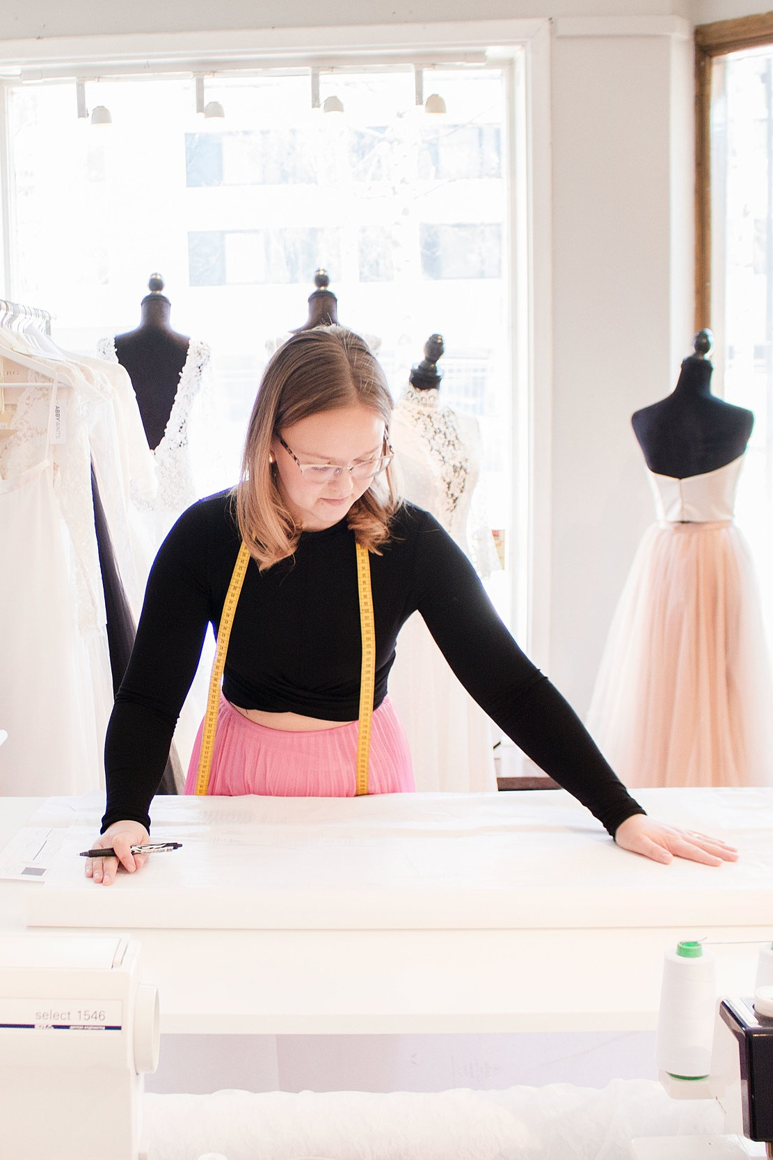 Kristina Grahn - Designer at Ellen Marie Bridalkristina@sistersinlaw.se@bykristinagrahn