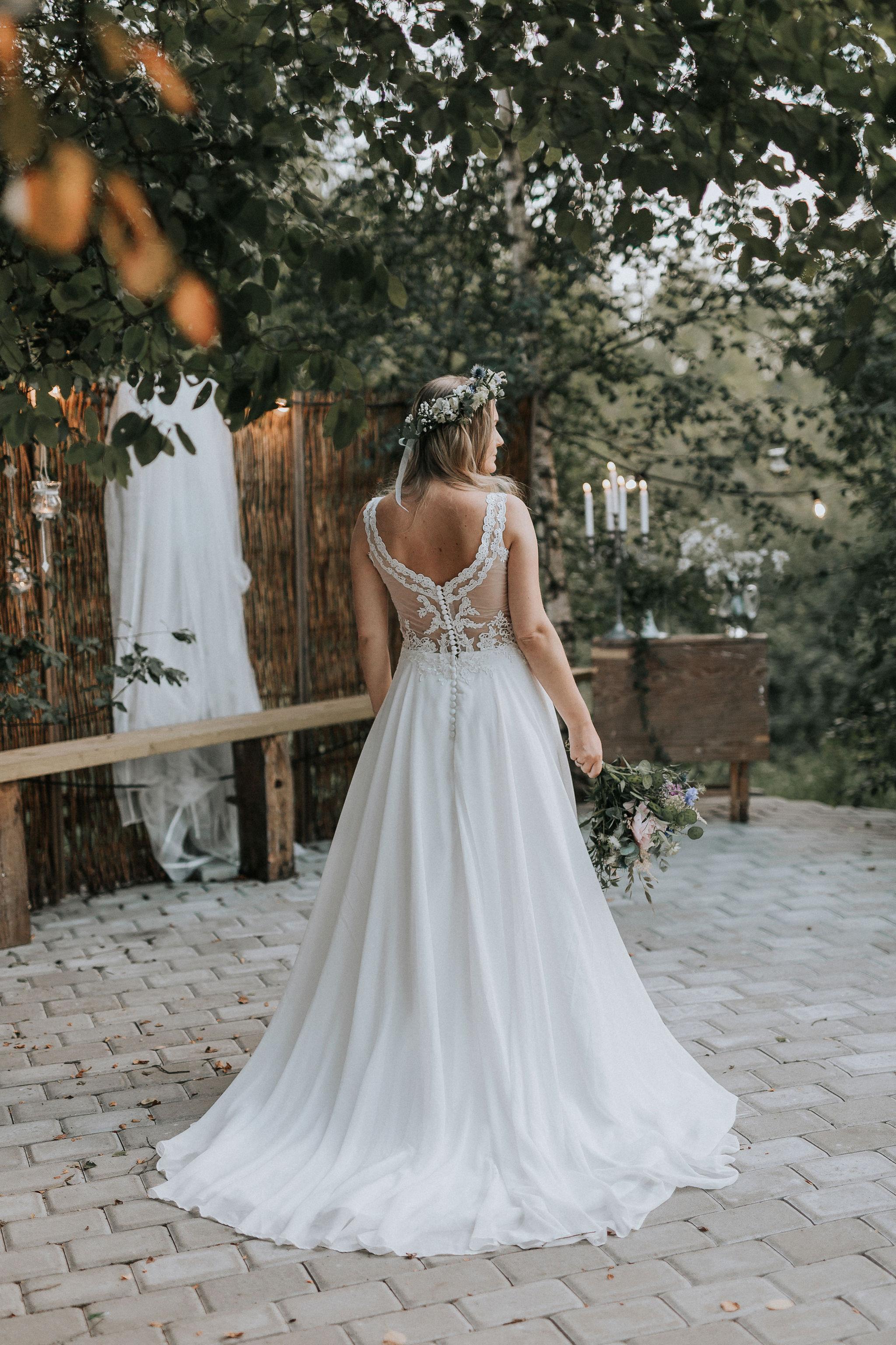 Brudklänning med släp Bröllopsblogg