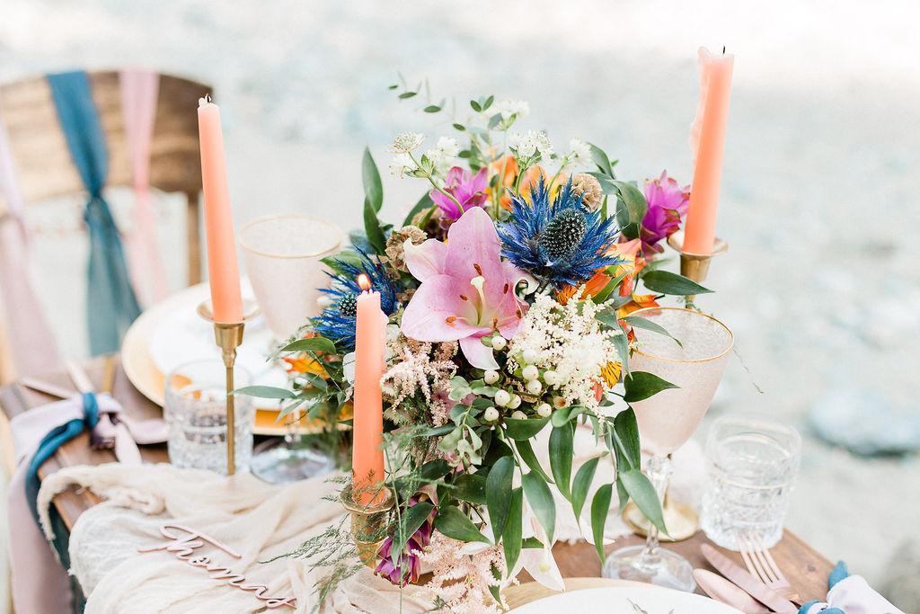 Bukett bord bröllop