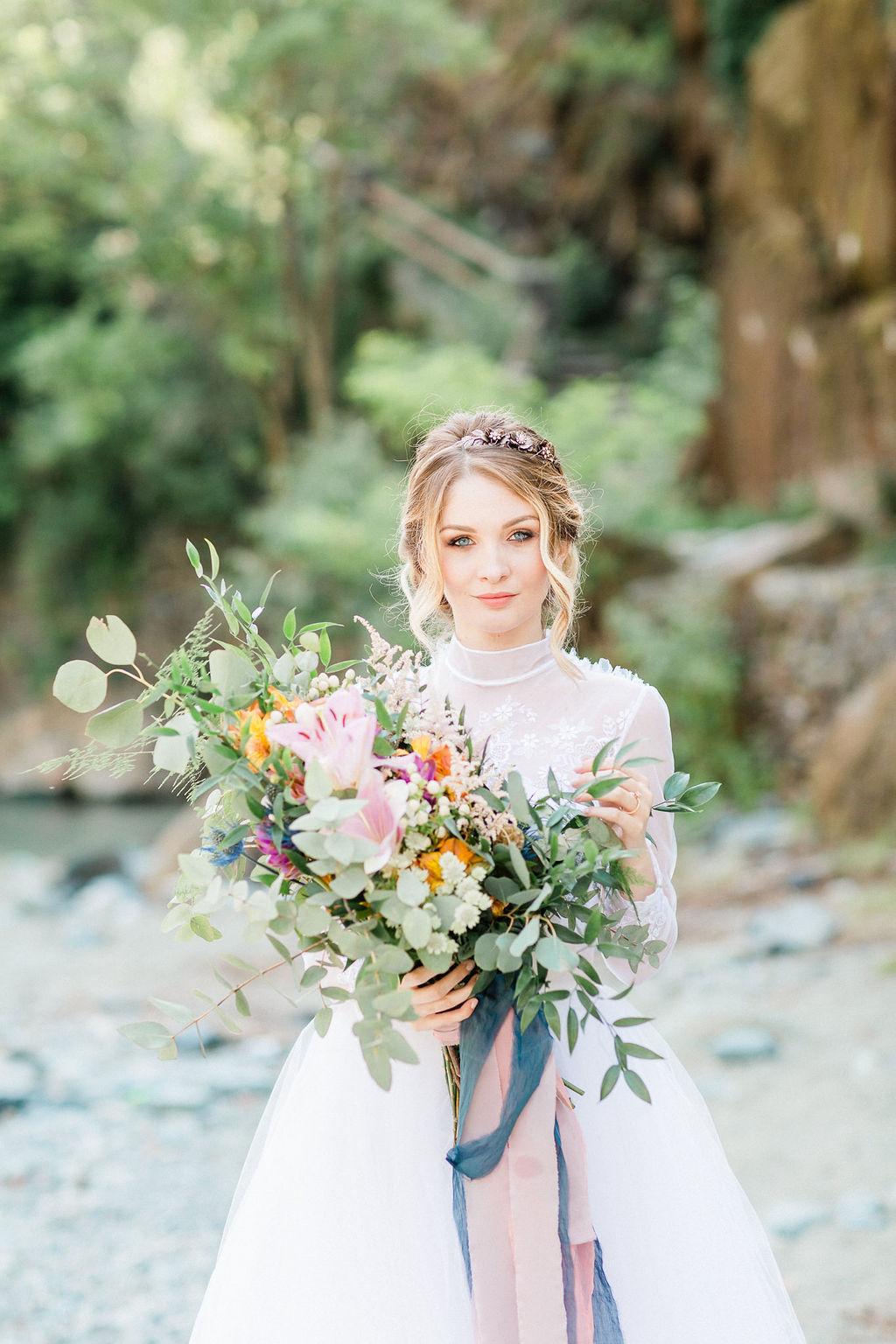 Brudbukett brudklänning bröllop blogg