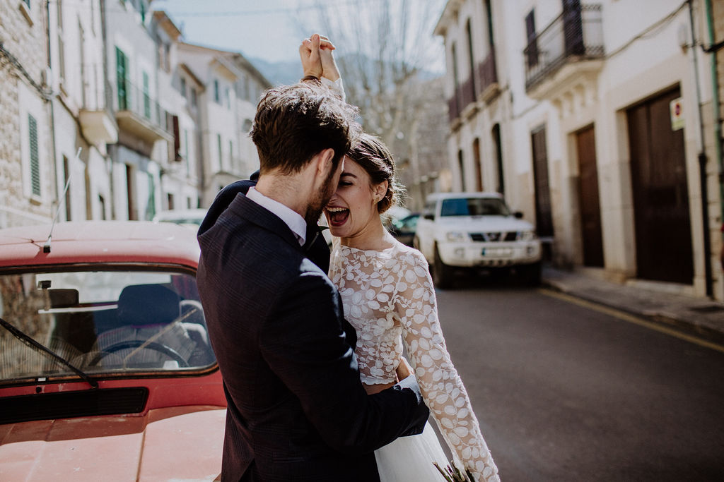 bröllop i stadsmiljö