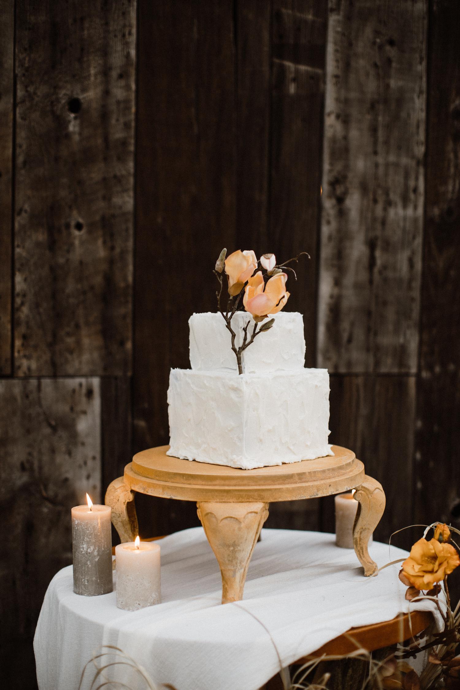 Minimalistisk bröllopstårta
