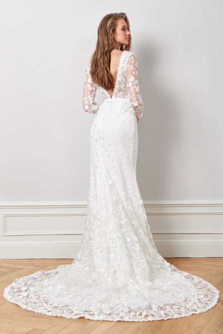Lace bridal gown , By Malina.