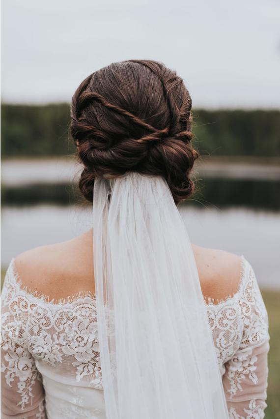 håruppsättning bröllops
