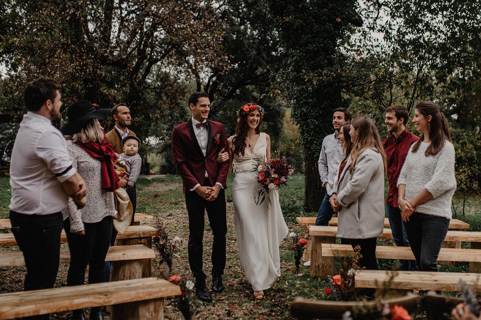bröllop utomhusceremoni