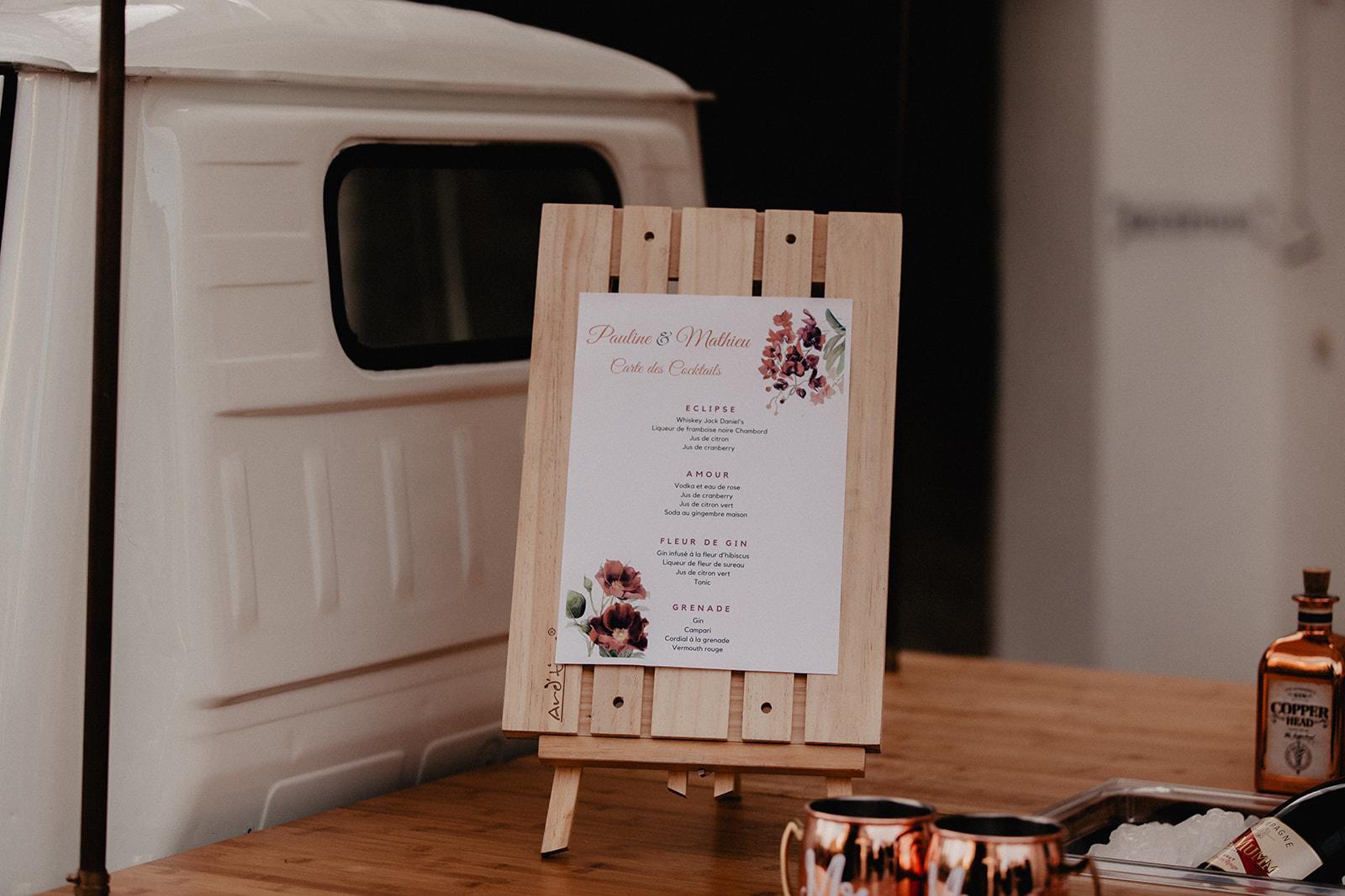 Trycksaker bröllop meny program