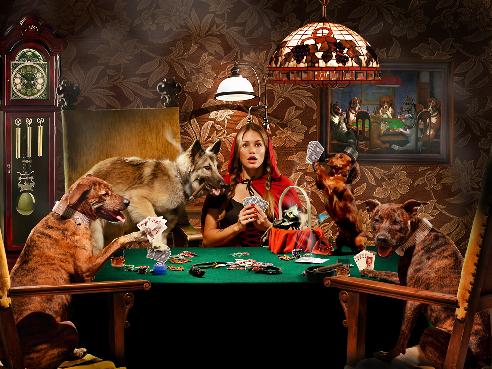 Dogs playing poker with Red final.jpg