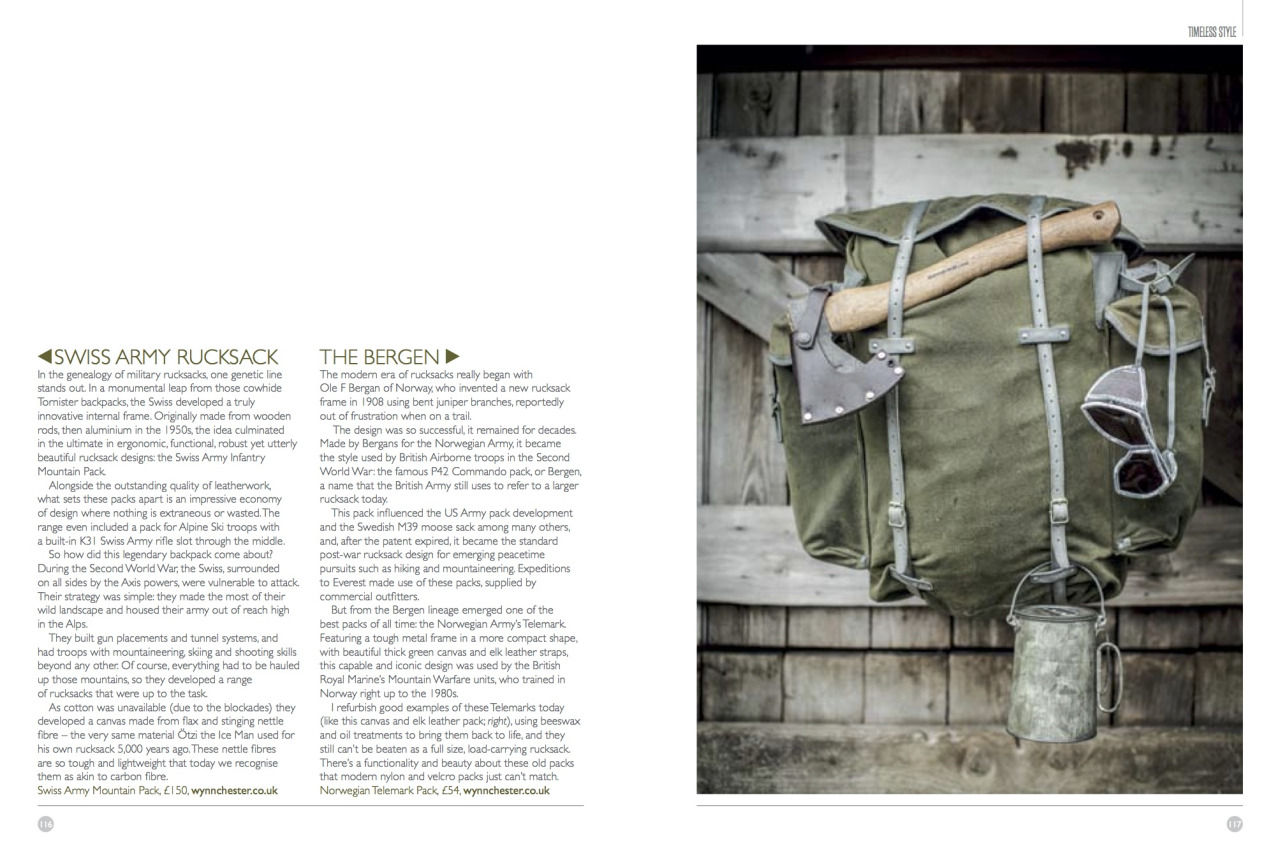 Extract from @ ernestjournal  for a piece studying historical army rucksacks