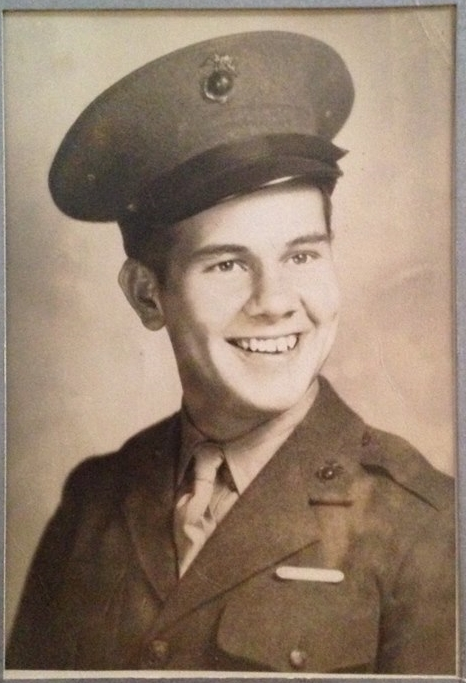 PRIVATE CORPORAL MARINE JAMES PATRICK DIAMOND, PATERNAL GRANDFATHER OF JOHN-AUSTIN DIAMOND, VOLUNTEERED TO ENTER WORLD WAR TWO AT THE AGE OF 17.JAMES WAS STATIONED AT THE ISLAND OF TINIAN IN THE SOUTH PACIFIC, AND NAGASAKI, JAPAN FOLLOWING THE DETONATION OF THE ATOMIC BOMB.