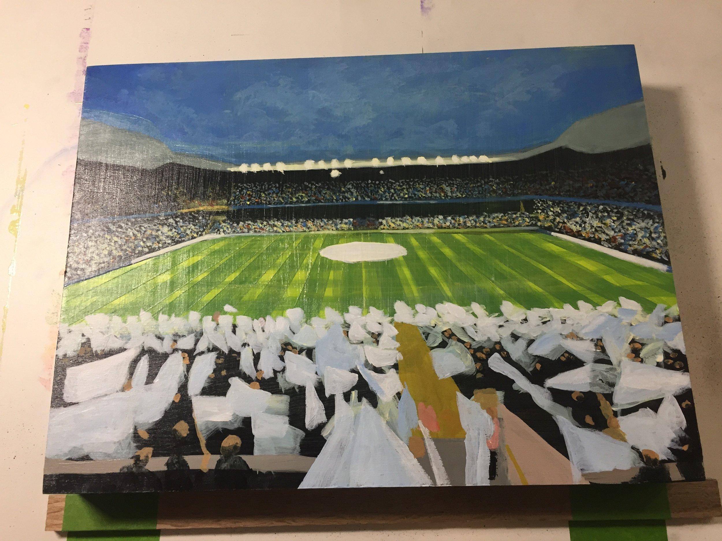 PyschedelicBreakfast's favorite soccer team, Tottenham Hotspur's, stadium. WIP
