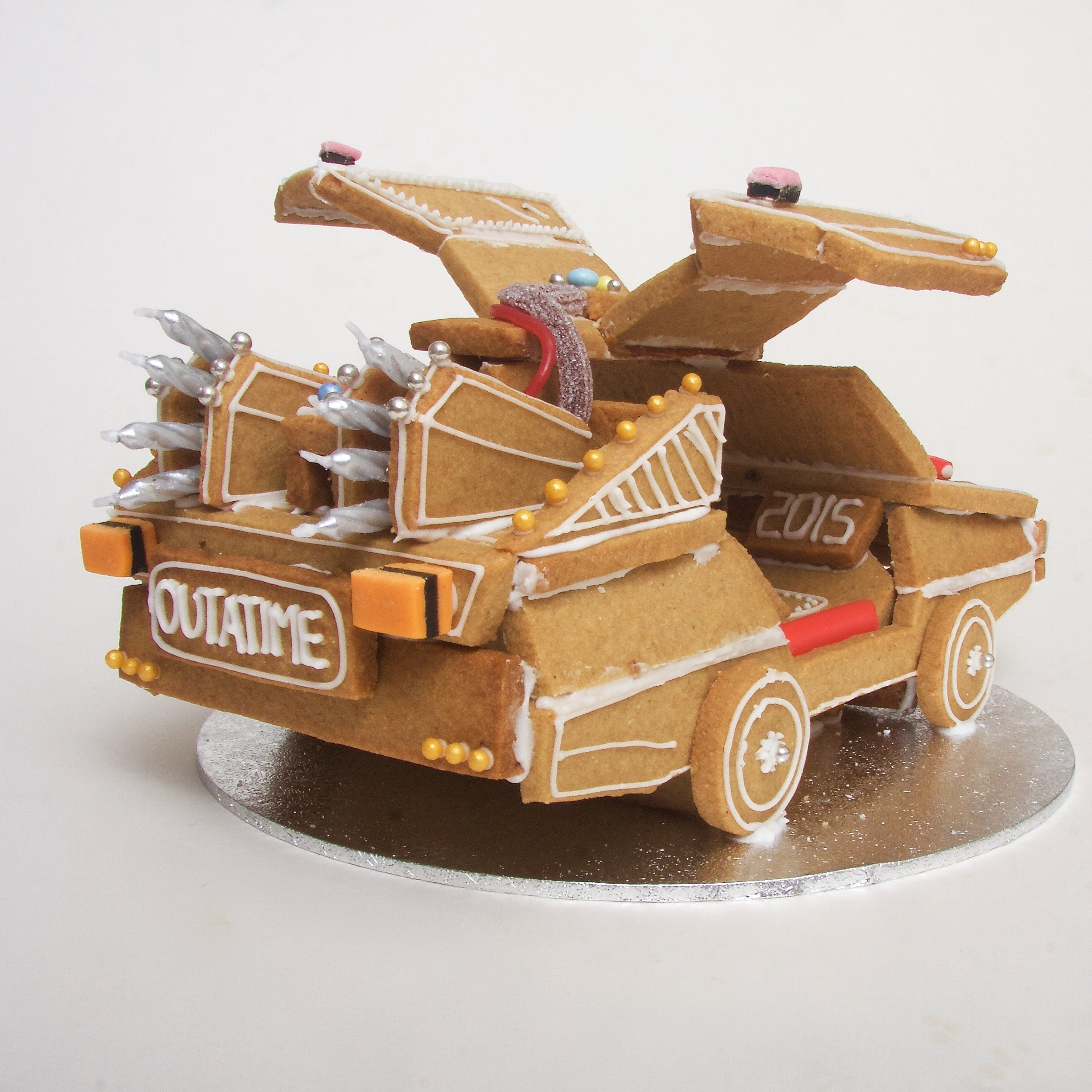 gingerbread back to the future delorean