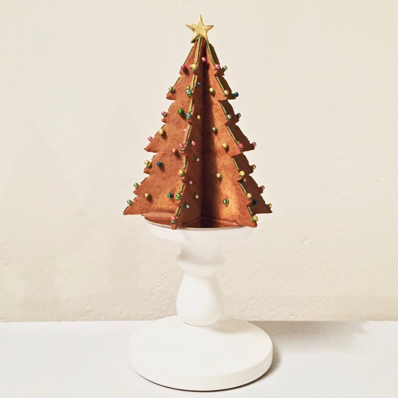 3D GINGERBREAD CHRISTMAS TREES