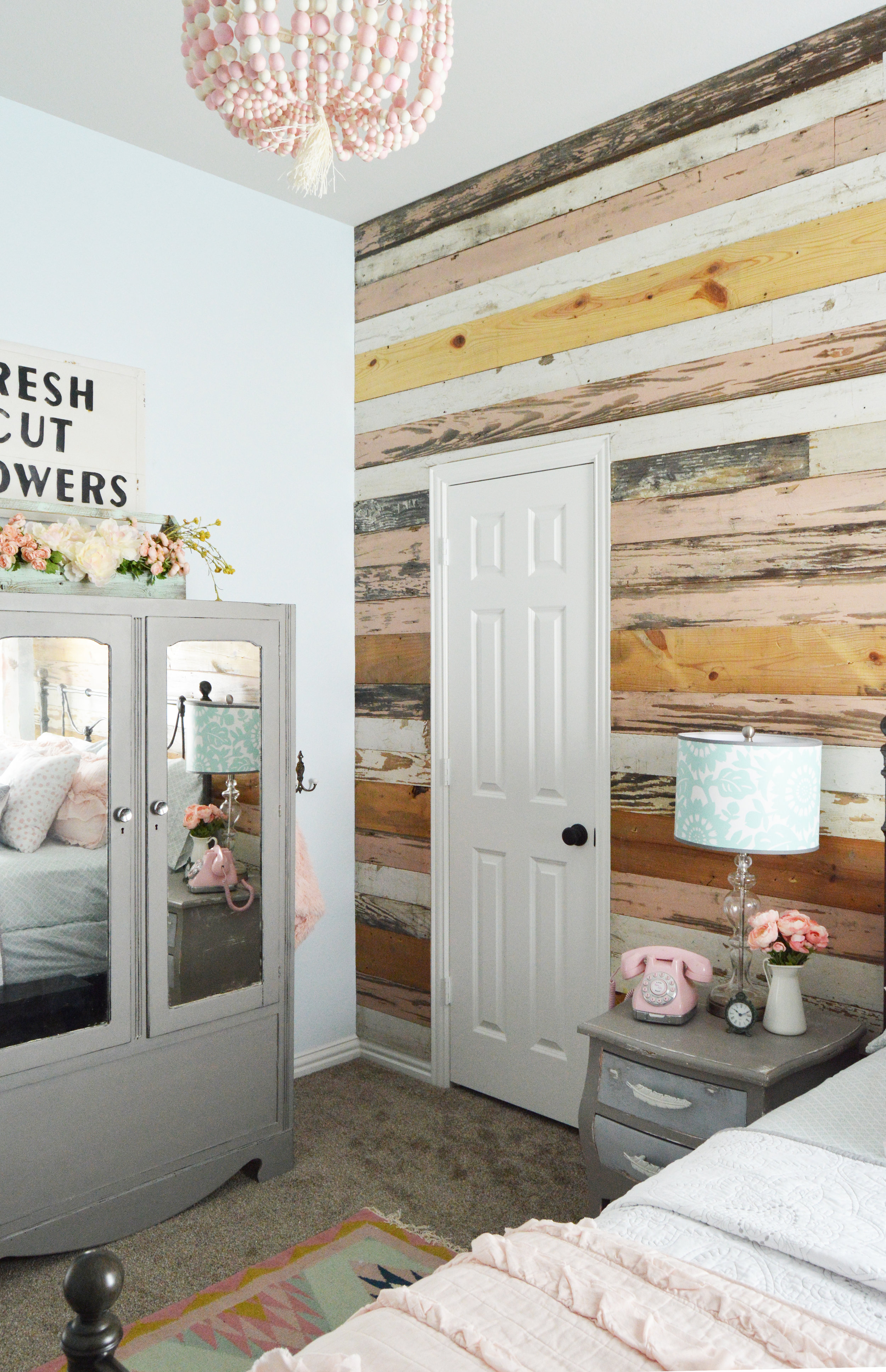 Room Reveal From Baby To Big Girl A Feminine And Vintage Inspired Toddler Bedroom Brett Nicole Interiors