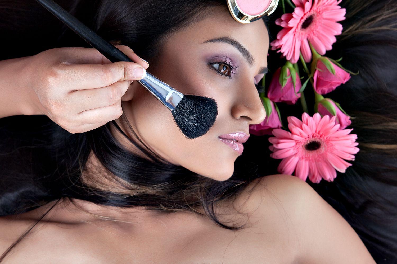 Applying makeup is an art