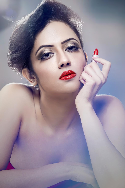 Beauty in ravishing red