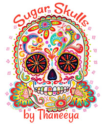 Sugar Skull art by Thaneeya