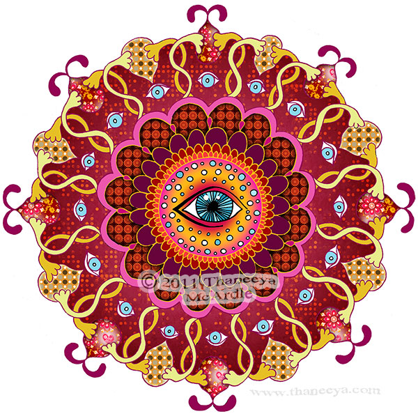 Cosmic Eye Mandala Art by Thaneeya McArdle