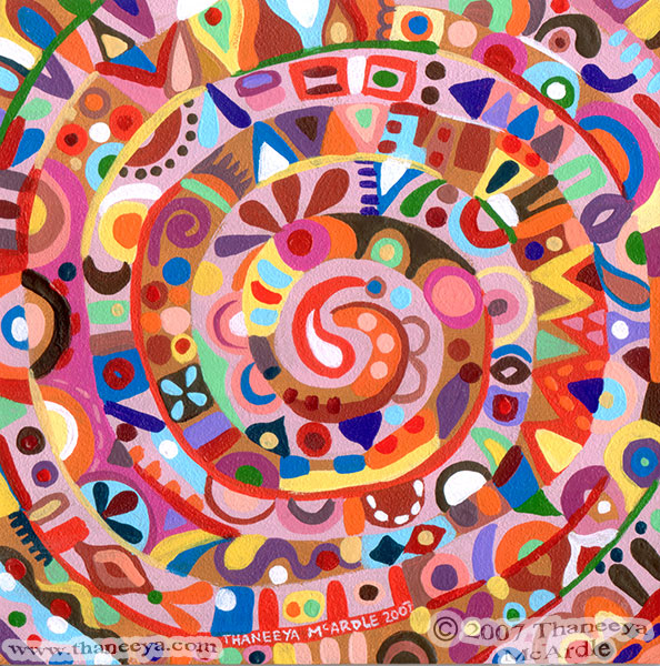 Spiral Abstract Art Painting by Thaneeya