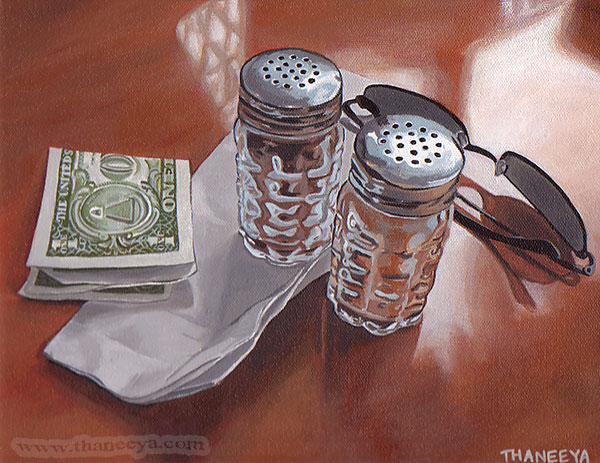 Still Life Photorealism Painting by Thaneeya