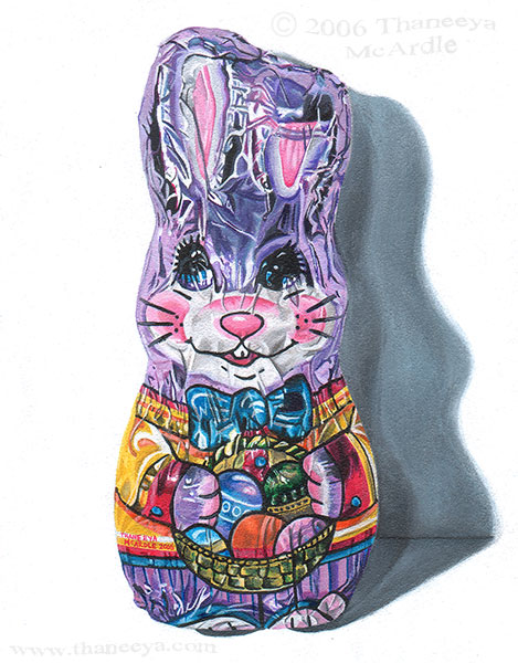 Easter Bunny Photorealism Painting by Thaneeya