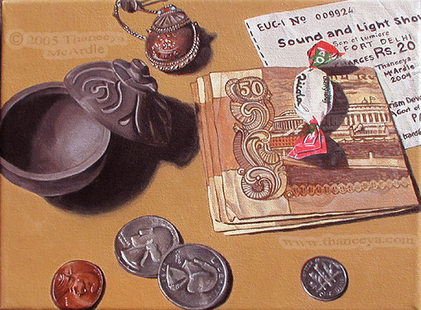 Photorealist Still Life Painting by Thaneeya