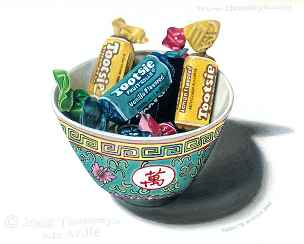 Photorealistic Acrylic Still Life Painting by Thaneeya