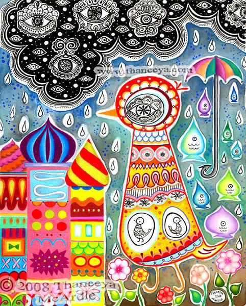 Whimsical Mixed-Media Art by Thaneeya