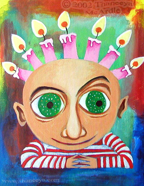 Whimsical Birthday Portrait Painting
