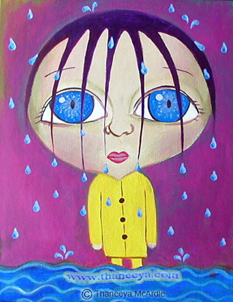 Whimsical Portrait Painting by Thaneeya