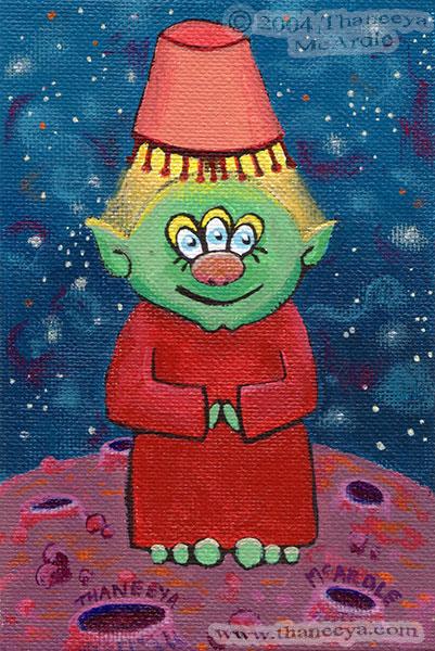 Cute Alien Painting by Thaneeya McArdle