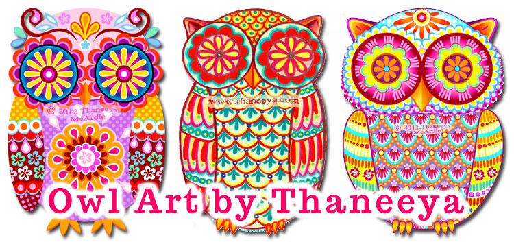 Owl Art by Thaneeya