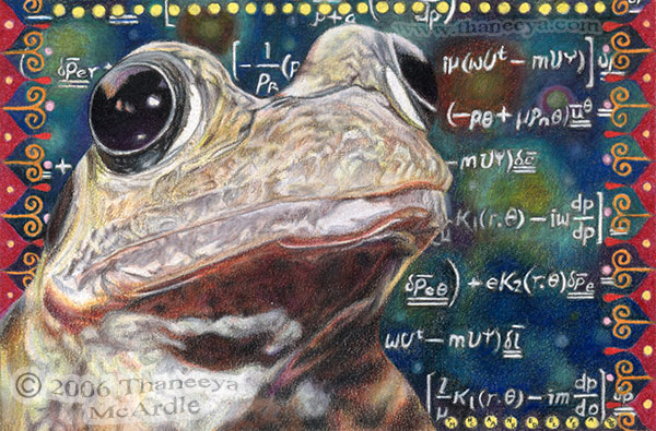 Frog Drawing Photorealism Painting by Thaneeya