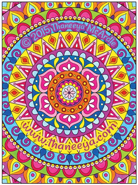 Free Spirit Coloring Book Mandala by Thaneeya McArdle