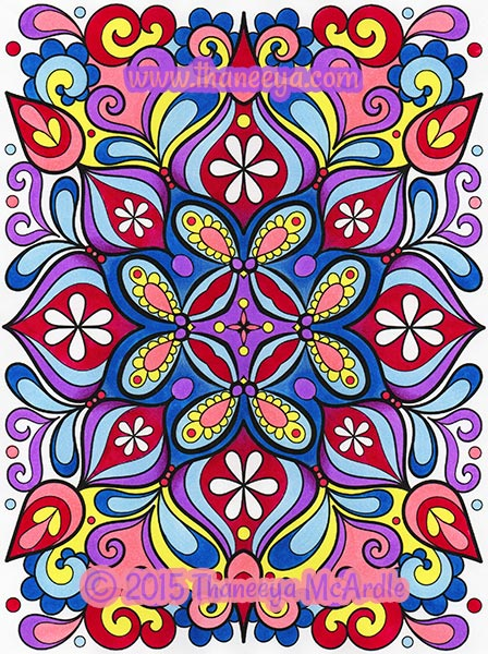 Groovy Abstract Colored Page by Thaneeya McArdle