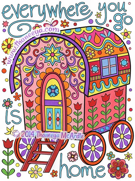 Everywhere you go is home coloring page