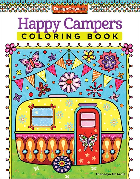 Happy Campers Coloring Book by Thaneeya McArdle