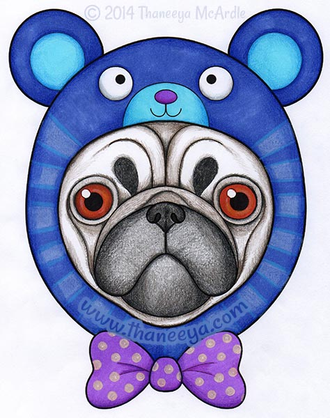 Hipster Coloring Book Pug By Thaneeya McArdle