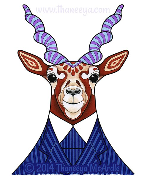 Dapper Animals Coloring Page by Thaneeya McArdle